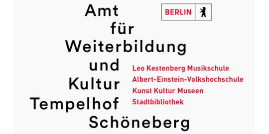 Logo des Amts für Weiterbildung und Kultur Tempelhof-Schöneberg