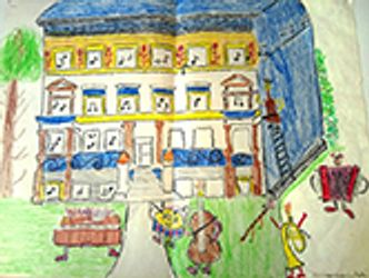 Bildvergrößerung: Musikschule, Zeichnung von Korian Koschitzki