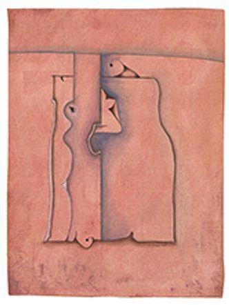 Bildvergrößerung: Jochen Senger: Vor rosa Hügel