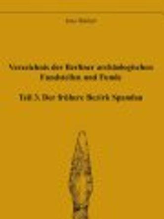 Bildvergrößerung: Archäologische Fundstellen Spandau