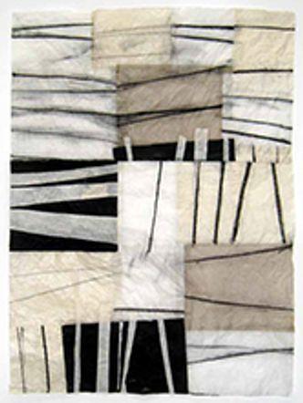 Bildvergrößerung: Claudia-Busching: Ohne Titel · 2013 · Kohle, Acryl, verschiedene Papiere · 158 x 114 cm