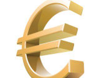 Metallisches Eurozeichen