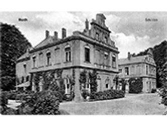 Bildvergrößerung: Postkarte: Schloss Berlin-Buch, Rückseite des Schlosses um 1900