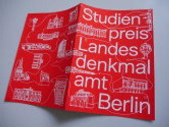 Bildvergrößerung: Urkunde Studienpreis Berlin, Außenseite