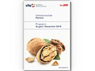 Bildvergrößerung: VHS-Programmheft: August bis Dezember 2019