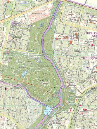 Ausschnitt der Bezirkskarte Marzahn-Hellersdorf