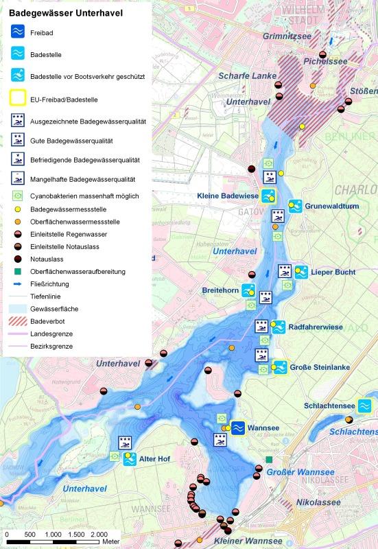 Eu Badestelle Strandbad Wannsee Badegew 228 Sserprofil