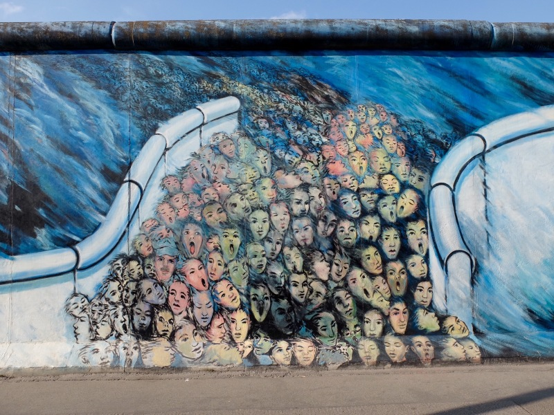 The East Side Gallery A Section Of The Inner Wall Painted In 1990
